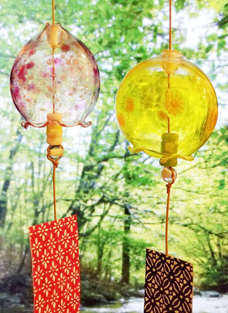 「ガラスの風鈴&リンゴの一輪挿し」デモンストレーションin浅草橋校