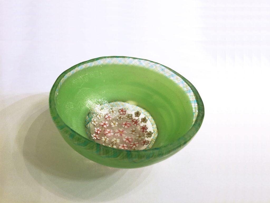 コアガラス「桜のぐい呑み」1