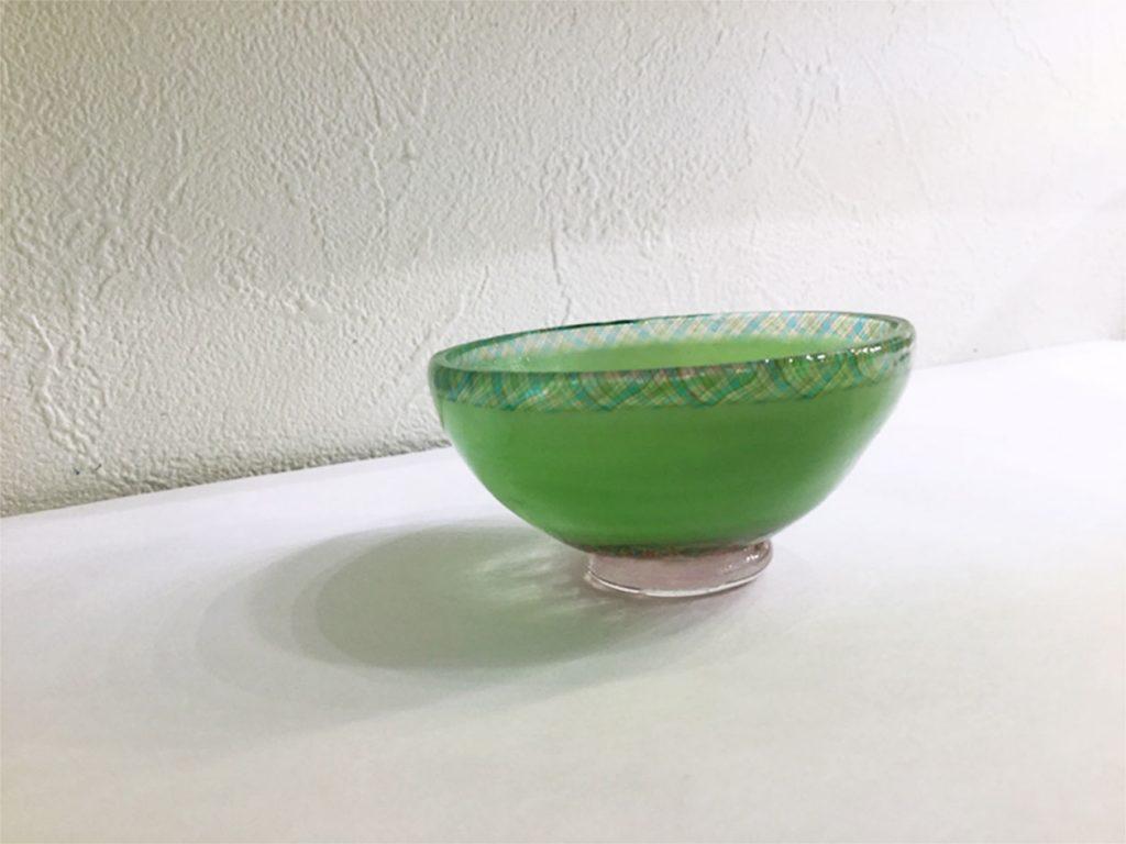 コアガラス「桜のぐい呑み」2