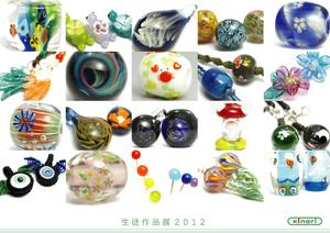 とんぼ玉教室京橋校生徒作品展2012