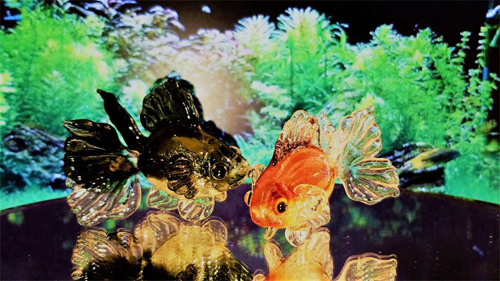 「バーナーブローで作る金魚のオーナメント」デモin浅草橋校