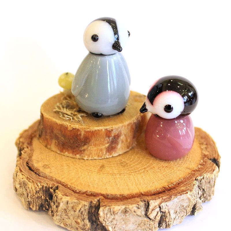 とんぼ玉教室京橋校(大阪)特別講座「ガラスのペンギンさん」2019年1月