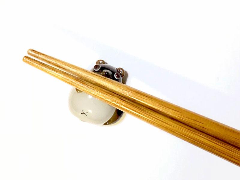 とんぼ玉教室京橋校(大阪)特別講座「たぬきのぽんぽこお箸置き」2019年3月
